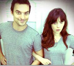 Jake Johnson & Zooey Deschanel or Nick Miller & Jess, I love New girl :)