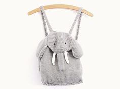 DIY-Anleitung: Niedlichen Elefanten-Rucksack für Kinder stricken via DaWanda.com