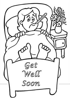 Top 25 Free Printable Get Well Soon Coloring Pages Online | used or ...