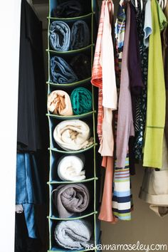 Creative closet solutions -- sweater storage