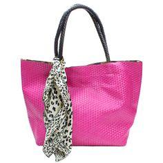Bolsa grande tipo sacola Tressê Pink.