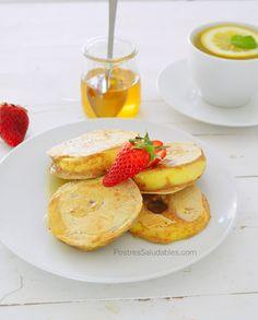 Video receta: Pancakes de Manzana crujientes y muy saludables | sin azúcar | sin grasas <3