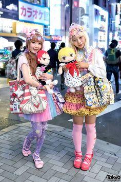 Harajuku Decora Girls w/ Kuroko's Basketball Goods & Colorful Fashion