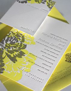 Custom Letterpress Wedding Invitations - Elum