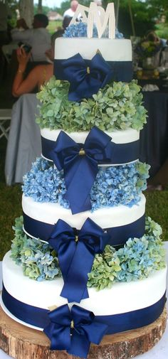 Hydrangea cake by Studio Cakes  New Bern, NC