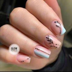 Nail Desighns, Nail Art Designs Images, Nail Salon Design, Cow Nails, Neutral Nails, Long Acrylic Nails, Dream Nails, Stylish Nails, Beauty Nails