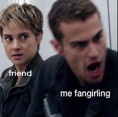 HAHAHA HER FACE!!!!!! Divergent Memes, Divergent Trilogy, Divergent Insurgent Allegiant, Insurgent Quotes, Tfios, Jorge Ben, Fangirl Problems, Vampire Academy, Fandoms Unite