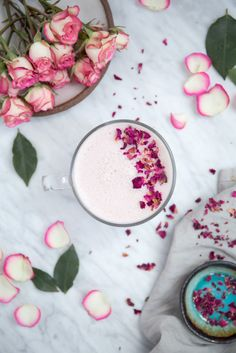 Rose Latte (Dairy Free, Refined Sugar Free, Stress Reducing) | Sprouted Routes