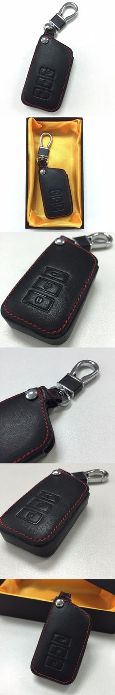 TOP Car Genuine Leather Remote Control Car Keychain Key Cover Case For Lexus RX270 NX200 3Buttons Smart Key With Logo L518 999