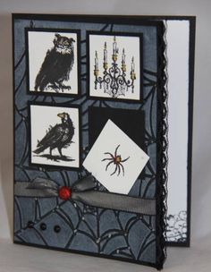 Dark & Dreary Halloween Card MOJO153 by Stampin' Kari - Cards and Paper Crafts at Splitcoaststampers