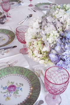 Luncheon table setting