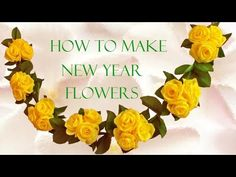 Como hacer flores hermosas de papel - How to make flowers paper roses beautiful - YouTube