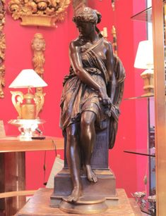 Amazone Defeated, Eugène Aizelin's Bronze Sculpture, 19th Century Barbedienne, Galerie O'Reilly, Proantic6500eu