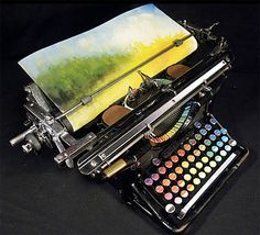 Chromatic Typewriter - American painter Tyree Callahan converted an old typewriter from 1930s into a machine that prints colors instead of letters.