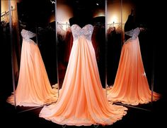 peach-strapless-prom-dress-sweetheart-embroidered-neckline-open-back-chiffon-flowing-skirt-115jc054170438 at Rsvp Prom and Pageant, Atlanta, Georgia