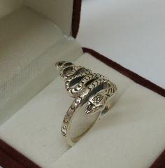 Vintage Ringe - Ring Silber 925 Schlangenring 20 mm Mystik SR720 - ein Designerstück von Atelier-Regina bei DaWanda