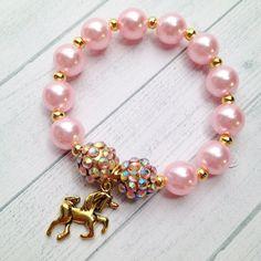 8 unicornio rosa y oro pulsera cumpleaños o Slumber Party