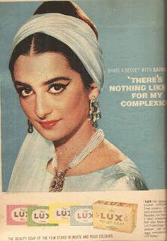 Saira Banu in a Lux ad