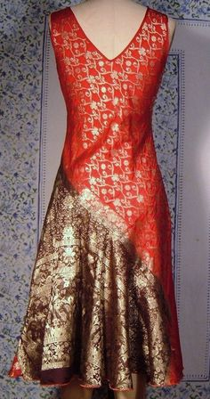 Image result for repurposed saree dresses