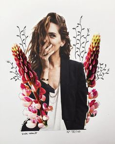 Day 78 of #the100dayproject // light as air // erin wasson flower collage by kate rabbit