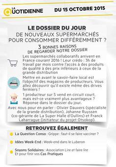 De nouveaux supermarchés pour consommer différemment ? - 15/10/2015 - News et vidéos en replay - La Quotidienne - France 5