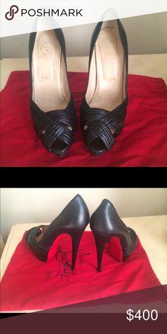 100dad86c678 Christian Louboutin ❤ Black heels Size  38.5