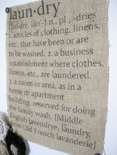 Fun Burlap Signs-Thanks Natalee for telling me about using freezer paper to print on burlap.
