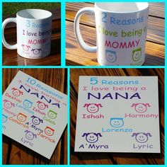Mug and Plaque Set// Gift Set//Reason I love being a mom// Christmas Gift For Mom// Christmas Gift For Grandma by TMCreativeCreations on Etsy https://www.etsy.com/listing/243818077/mug-and-plaque-set-gift-setreason-i-love