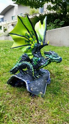 Custom Shoulder Dragon Made to Order Polymer by MakoslaCreations