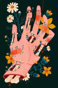 Illustration - illustration - Megan Sebesta illustration : – Picture : – Description Megan Sebesta -Read More – art illustration - Megan Sebesta - CoDesign Magazine Hand Illustration, Illustrations, Garden Illustration, Illustration Tumblr, Creative Illustration, Pretty Art, Cute Art, Art Sketches, Art Drawings