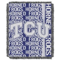 TCU Horned Frogs Jacquard Throw Blanket by Northwest, Multicolor