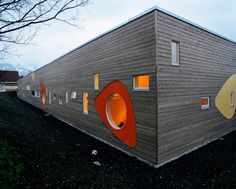 Incredible Norwegian kindergartens designed by 70° N Architects via Contemporist.