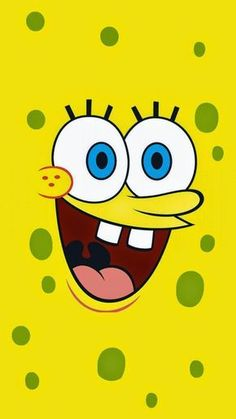 SpongeBob Face iPhone wallpaper. Get free: https://1papeldeparedegratis.blogspot.com.br/2015/04/iphone-wallpaper-spongebob-squarepants.html