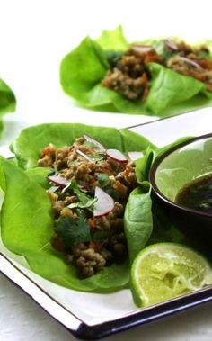 Vietnamese Lettuce Cups - something lighter and healthier to sit and cheer on your favorite team!  A flavor touchdown!!