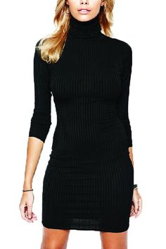 Sleeve: long sleeve Collar: Turtleneck Material: Polyester Year season: 2016 Fall Color: black,red Size: S, M, L, XL Item specifics Gender: Women Waistline: Emp Sheath Dress, Bodycon Dress, Shops, Cute Clothes For Women, Plunge Dress, Online Clothing Stores, High Collar, Winter Dresses, Dresses For Sale