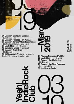 graphic poster design gig poster by quim marin studio by quim marin / spain Portfolio Graphic Design, Graphic Design Posters, Graphic Design Typography, Graphic Design Inspiration, Typo Design, Poster Designs, Poster Ideas, Gig Poster, Typography Layout