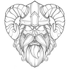 NEVER let a good design (or illustration) go to waste! Truth is not every client approves of what I suggest and... that's a ok! When the client passed on the Viking I could have easily tucked it away and moved on but... that's not my style! I chopped it up and dropped a skull in it. Will vector up next week as a personal exploration. Onward!