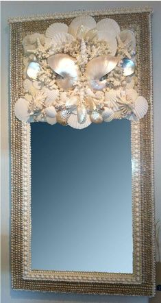 Another one of my mother's shell mirror creations on display. dealsondesign@comcast.net