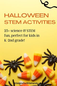 Searching for a fun way to engage your kids in science this fall? They'll love these fun activities created for kids in K-2nd grade! 25+ Halloween theme science and STEM activities with printable sheets, instructions, and useful information all using easy to source materials perfect for limited time needs. Includes a Halloween engineering pack with fun, problem-based challenges for kids to solve!