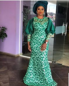 Nigerian wedding guest styles for ladies. African fashion dress styles for women. Best African Dresses, African Lace Styles, African Traditional Dresses, Latest African Fashion Dresses, African Print Dresses, African Print Fashion, African Attire, Ankara Long Gown Styles, Lace Dress Styles