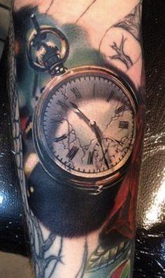 pocket-watch-by-Phil-Garcia-tattoo-artist-Port-Hueneme-Ca-USA.jpg (268×450)