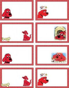 FREE printable Clifford Tags Gift Tags, you can use them for behavior management purposes!