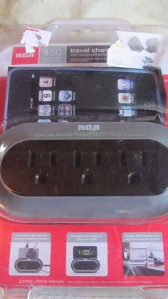 Marvelous Nip Sealed RCA Travel Charging Station W/surge Protection 2 Available NICE!  #rca