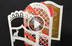 laser die cuts, metallic stock, accordion folds, wow