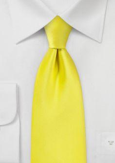 Canary Yellow Necktie - $9.90