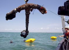 3,000 pound anchor from what is believed to be the wreck of the pirate Blackbeard's flagship, the Queen Anne's Revenge.