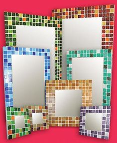 Handcrafted Mirrors Venetian Tiles - Glass Tiles - The Best Quality Ceramic Mosaic Tile, Mirror Mosaic, Mirror Tiles, Mosaic Art, Glass Tiles, Used Furniture For Sale, Selling Furniture, Tile Crafts, Mosaic Crafts