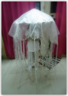 {Jellyfish Dress Up} What a great way to play with an umbrella! #CampSunnyPatch #DressUp