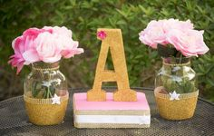 Rustic princess baby shower party decor! See more party planning ideas at CatchMyParty.com!