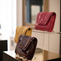 Mini Giovanna Silicone Studs on Patent   Fall Winter 2014   Which one are you? Saffron, Orchid & Black Cherry ?   #YYMiniGiovanna